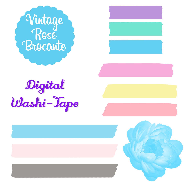 Set digital washi transparent. Donut clipart gambar