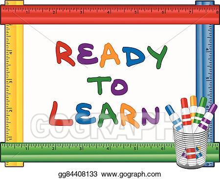 Clipart ruler kindergarten. Vector stock ready to