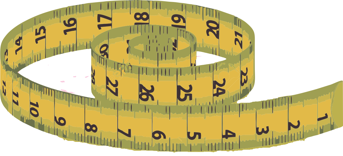 Patterns tape measure. Clipart ruler length