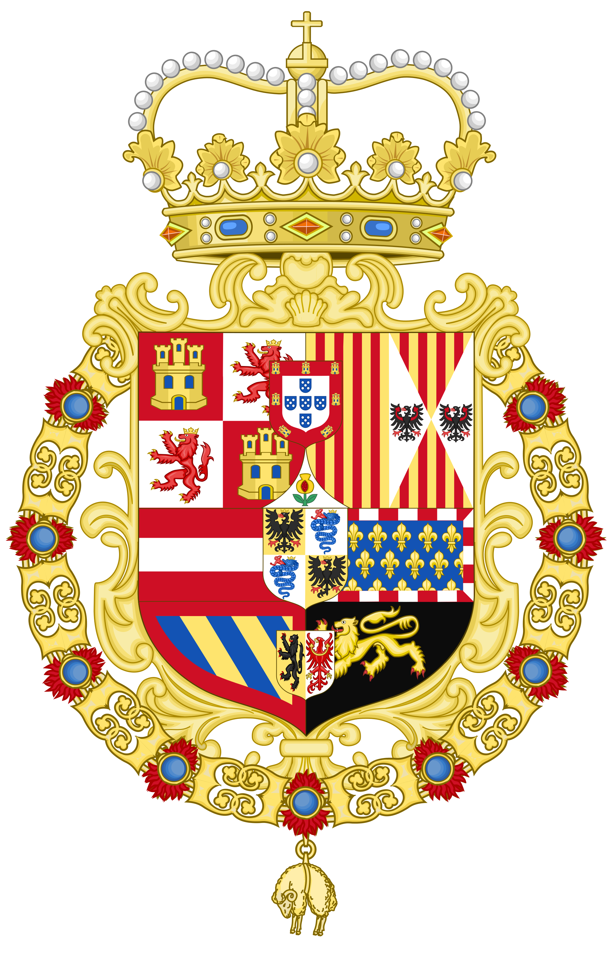 File coat of arms. Clipart ruler monarch