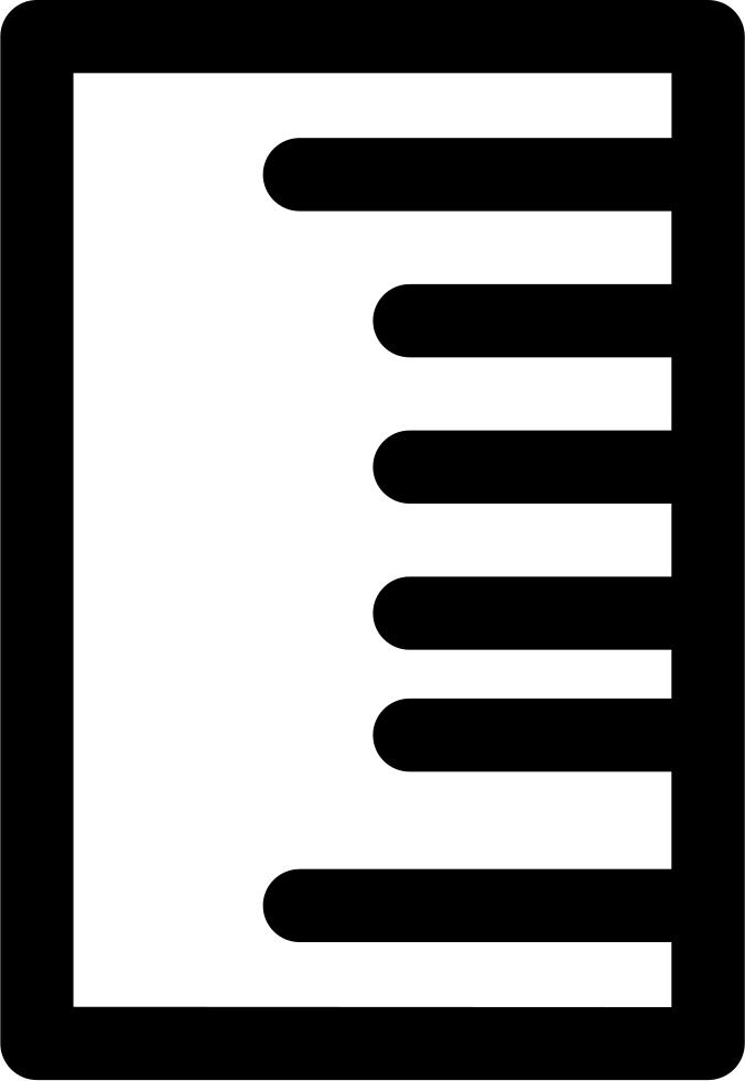 Vertical svg png icon. Clipart ruler outline