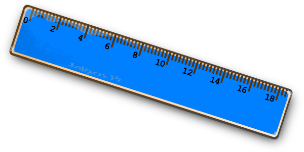 Clipart ruler penggaris. Blue clip art at