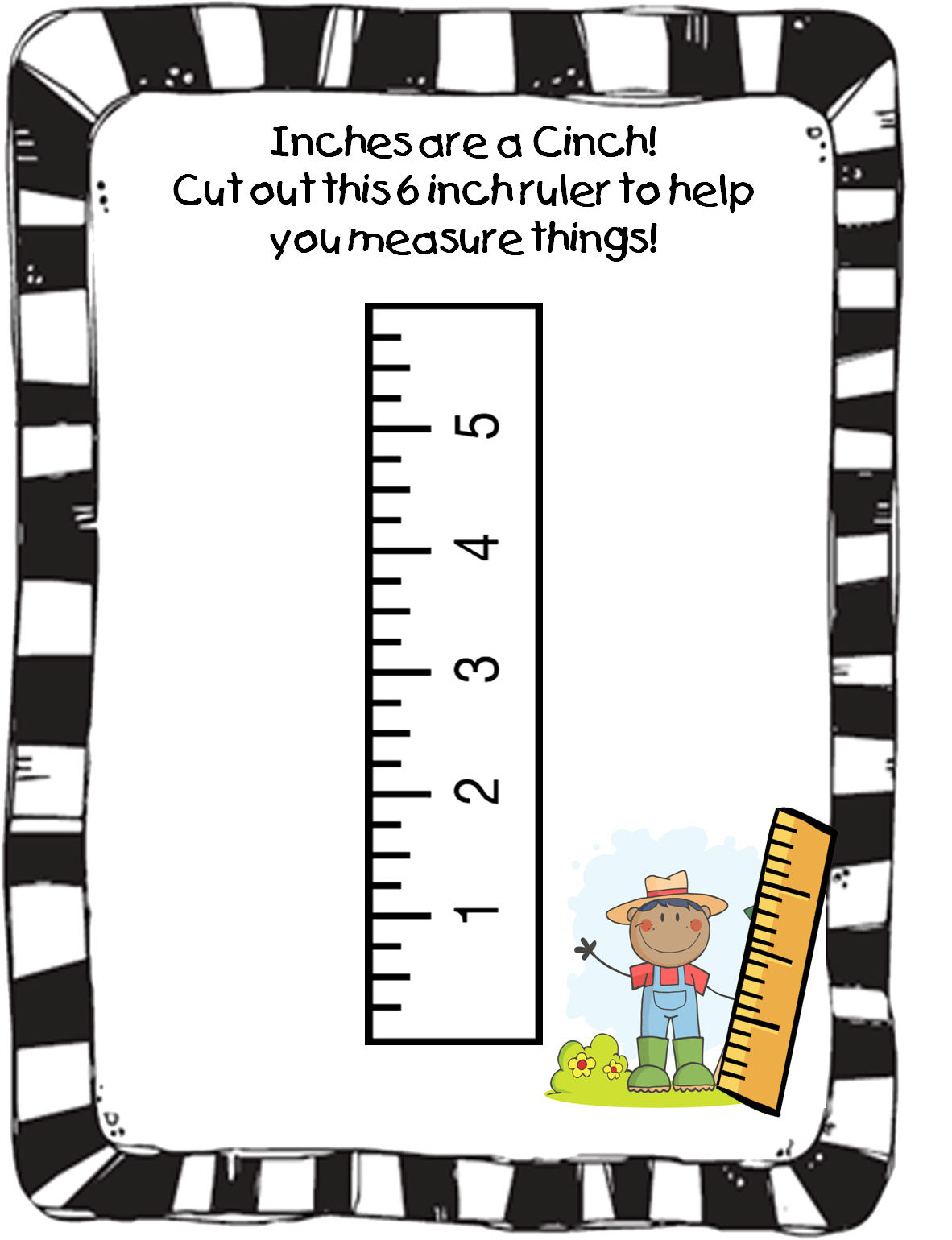 Free cards. Clipart ruler printable