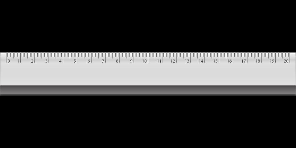 ruler clipart 20 cm