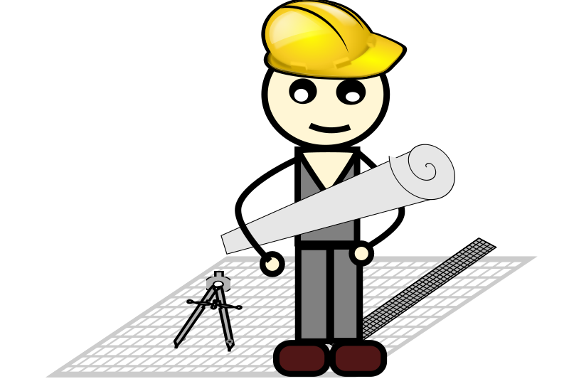 Architect with and ruler. Compass clipart printable