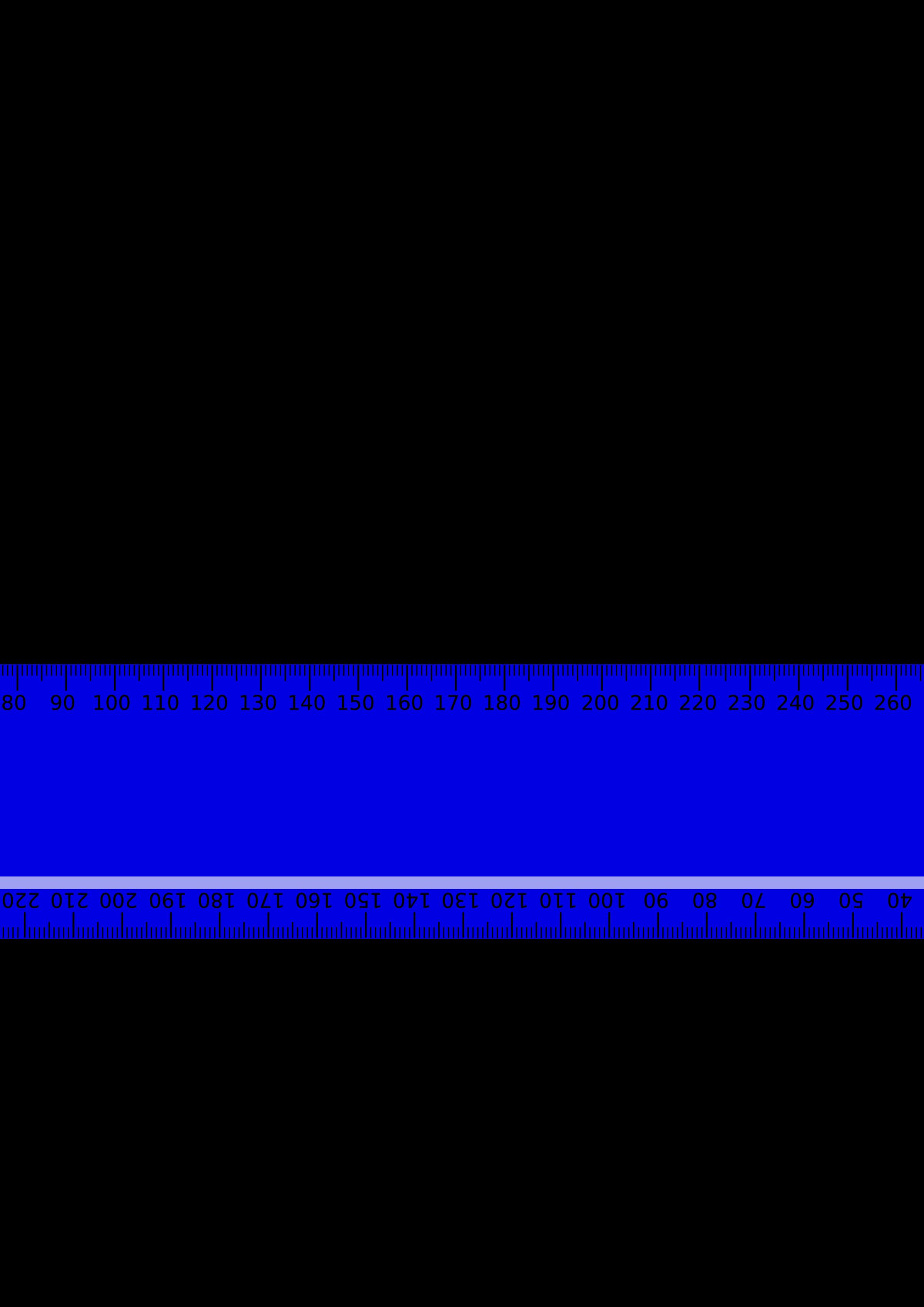 Blue metric big image. Clipart ruler purple