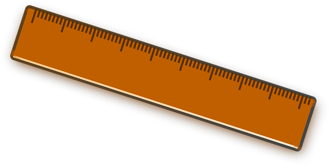 Clipart ruler rectangle. Brown clip art