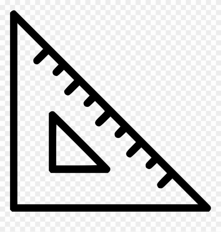 Clipart ruler rule. Scale measure tool triangle