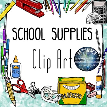 Markers clipart suply. School supplies back to