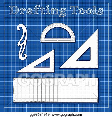 Eps illustration drafting tools. Clipart ruler science