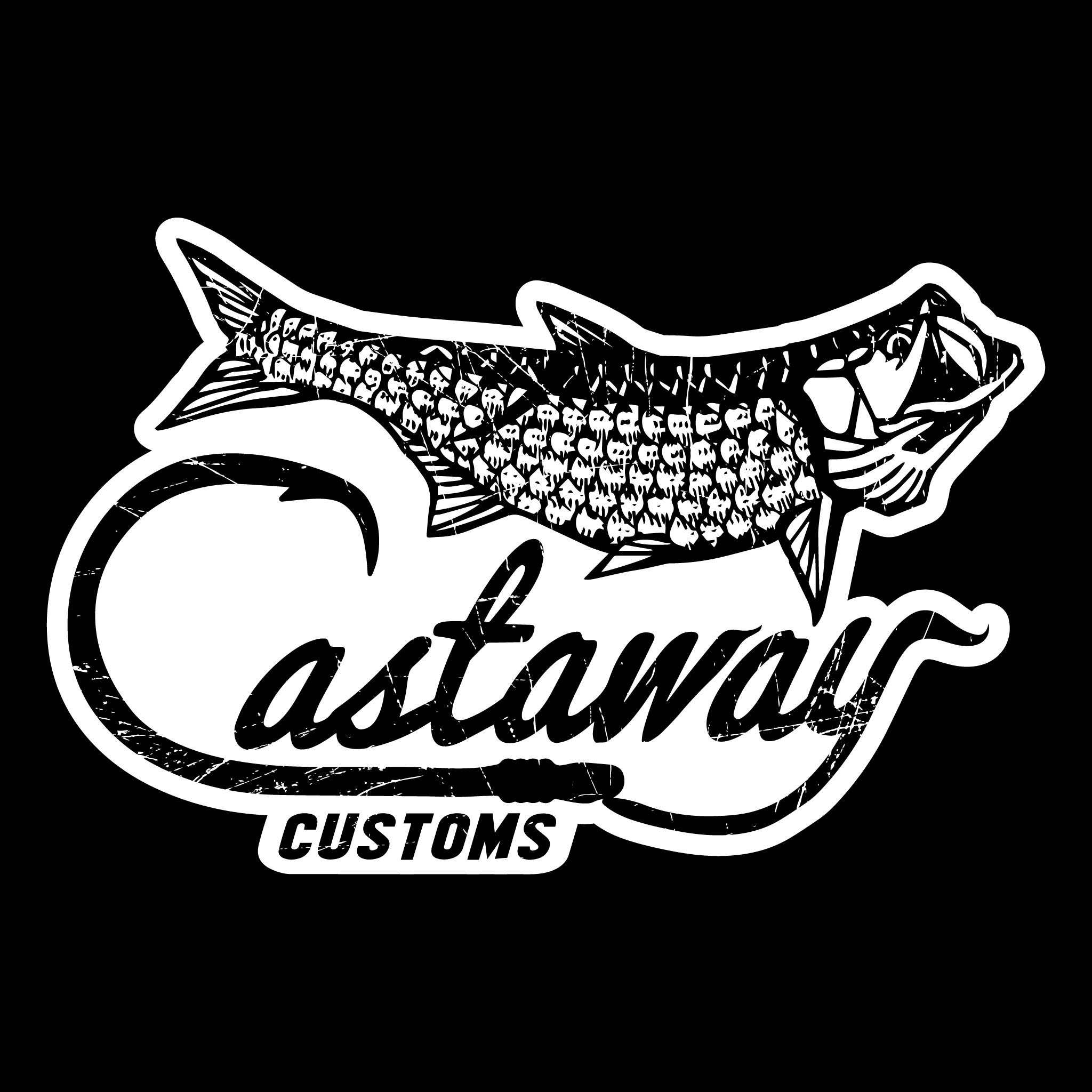 Tarpon logo decal castaway. Clipart ruler short ruler