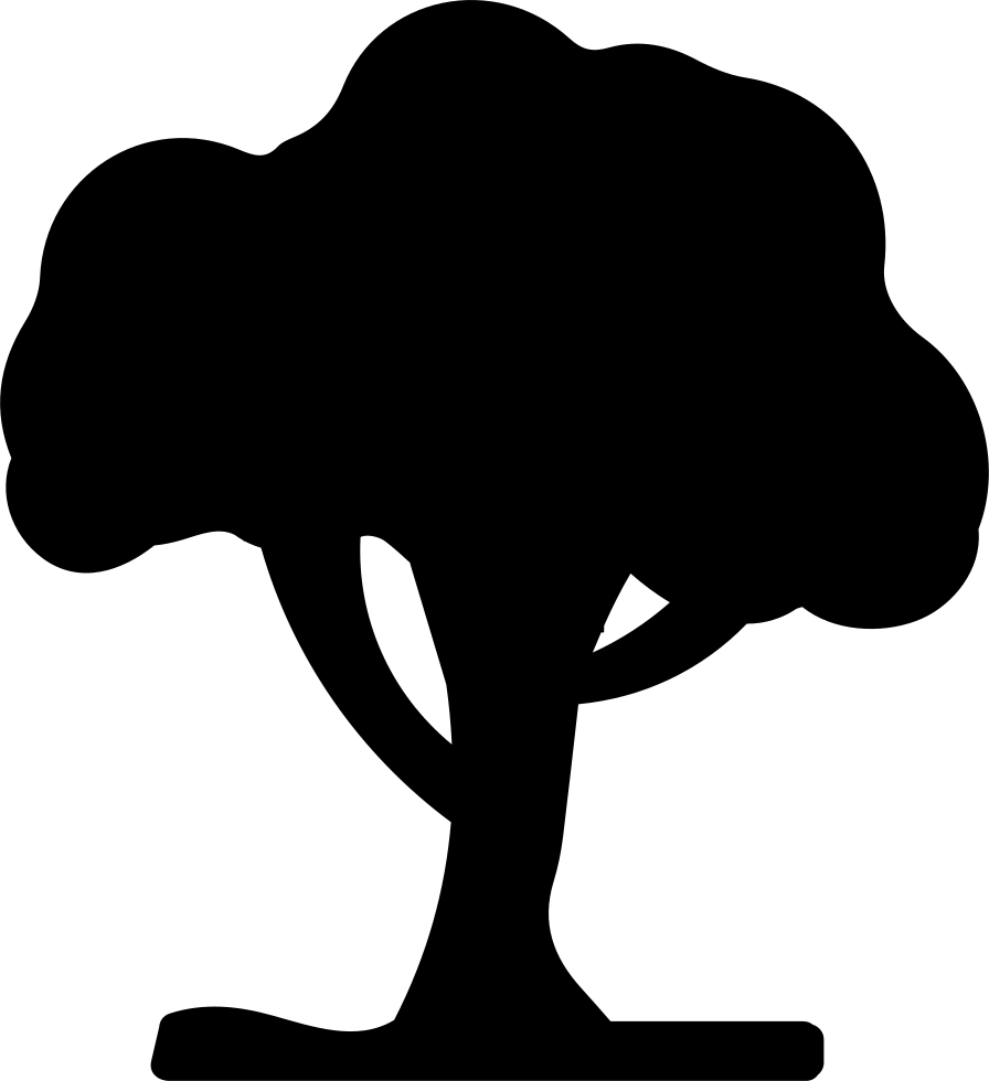 Black silhouette svg png. Tree clipart shape
