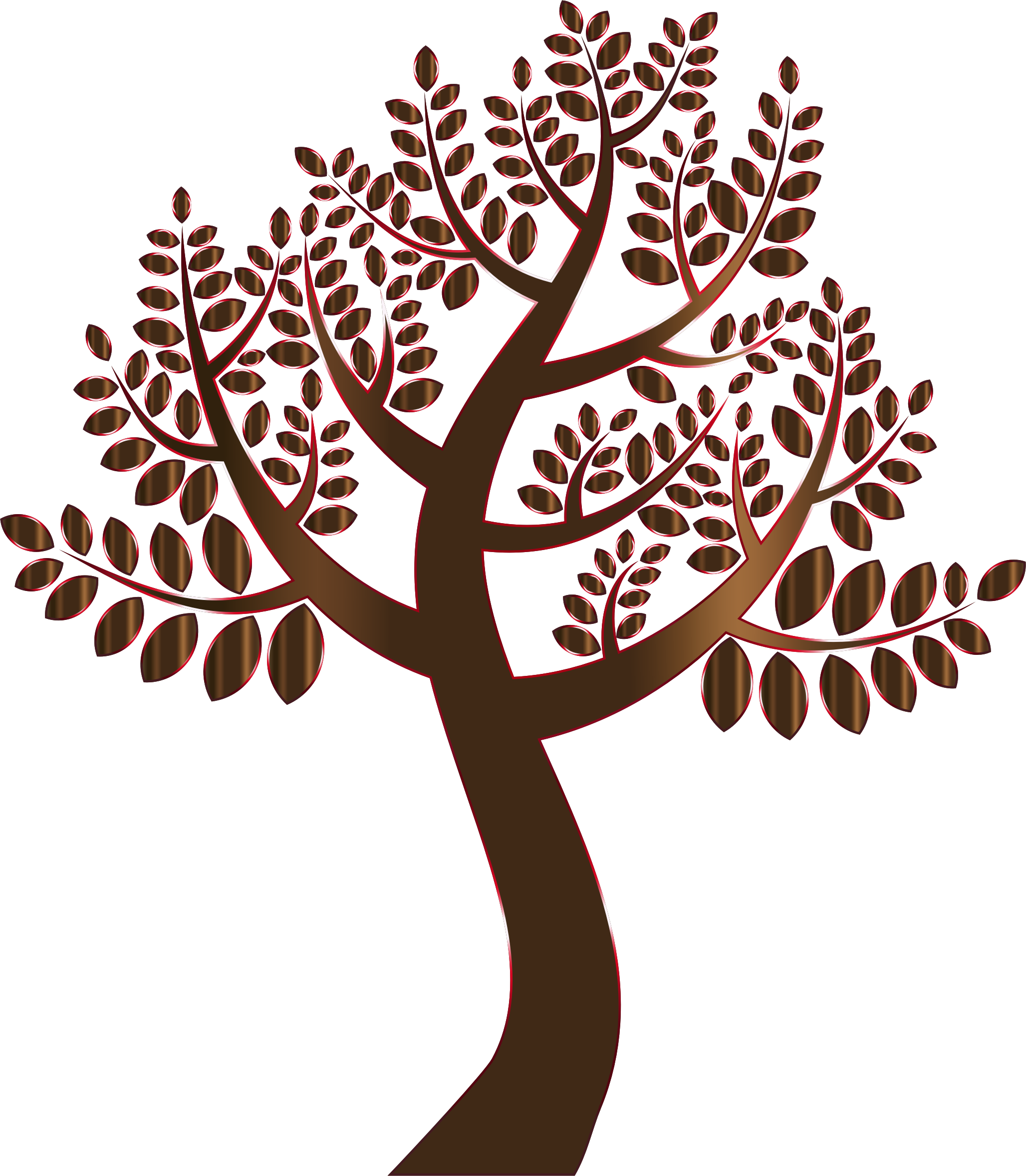 Clipart ruler simple. Prismatic tree without background