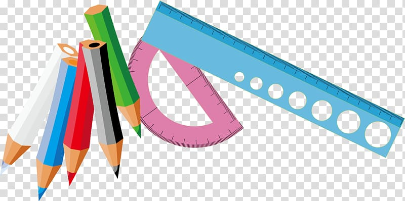 Measuring rulers with color. Clipart ruler supply
