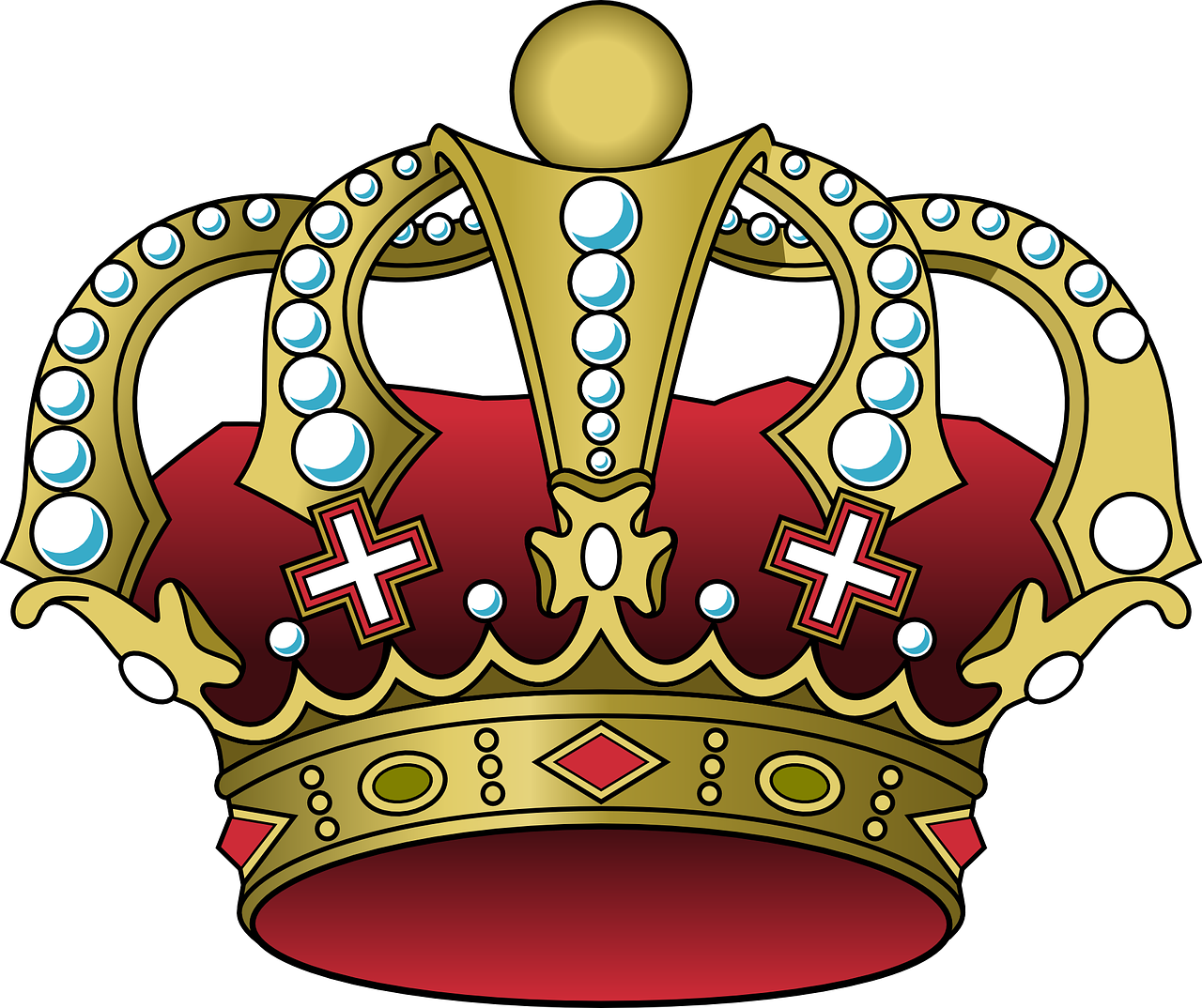 Leave the crown in. Clipart ruler three