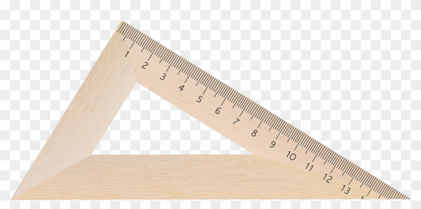 Clipart ruler triangle ruler. Wooden square png image