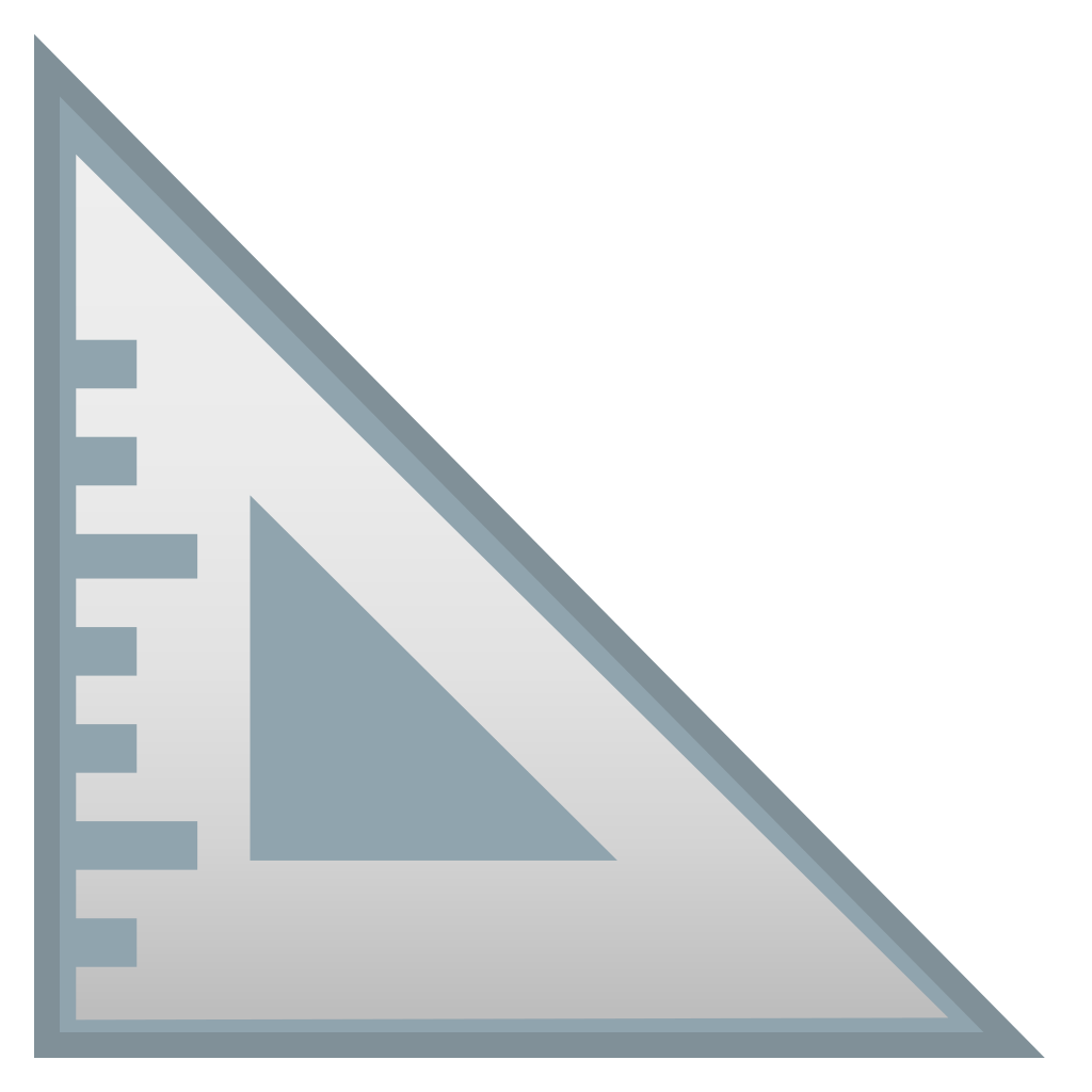ruler clipart triangular