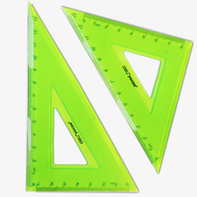 Two green clipa png. Ruler clipart triangle ruler