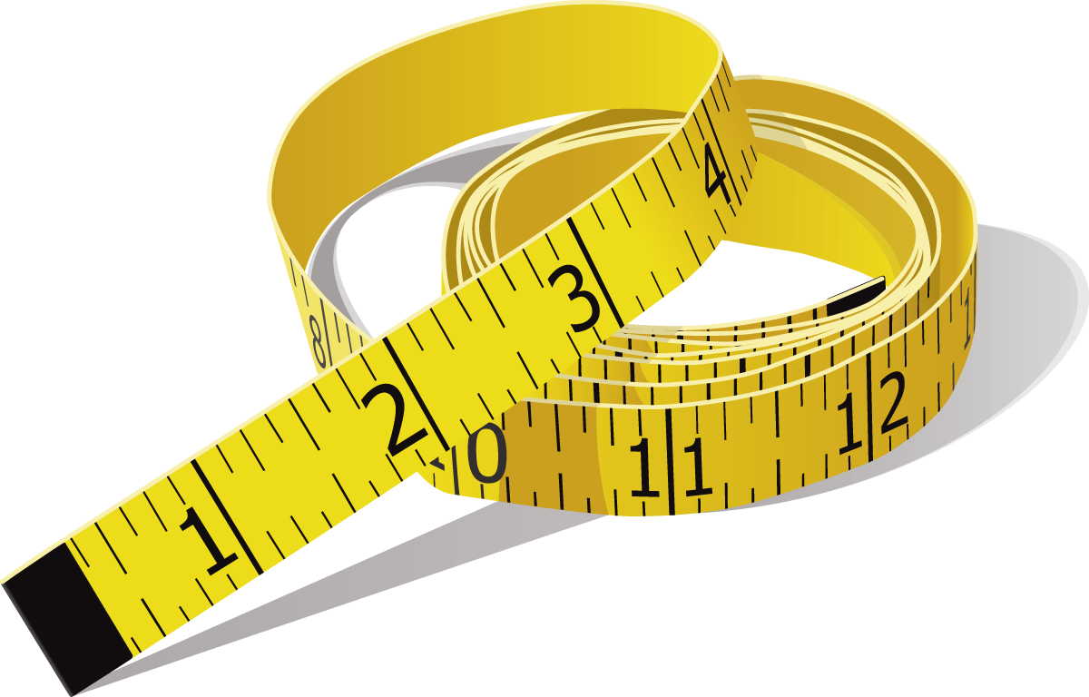 Measure tape png image. Clipart ruler yellow