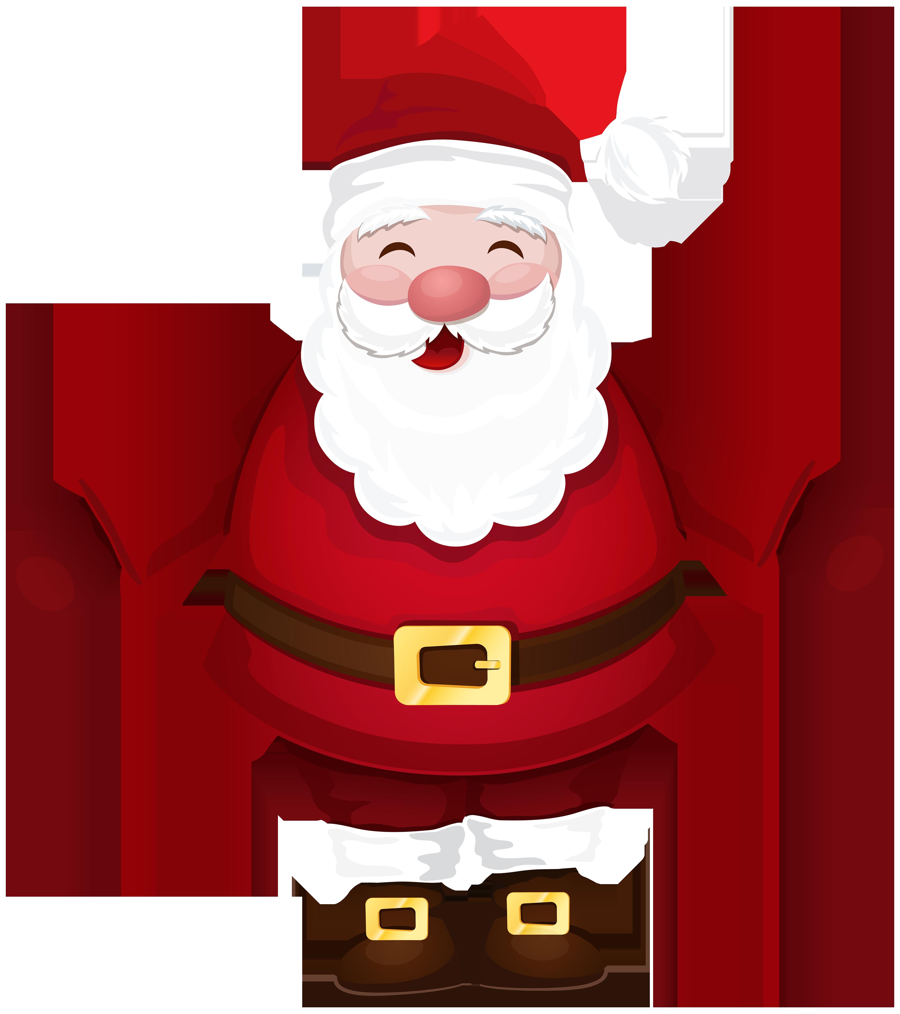 Santa claus png best. R clipart cartoon