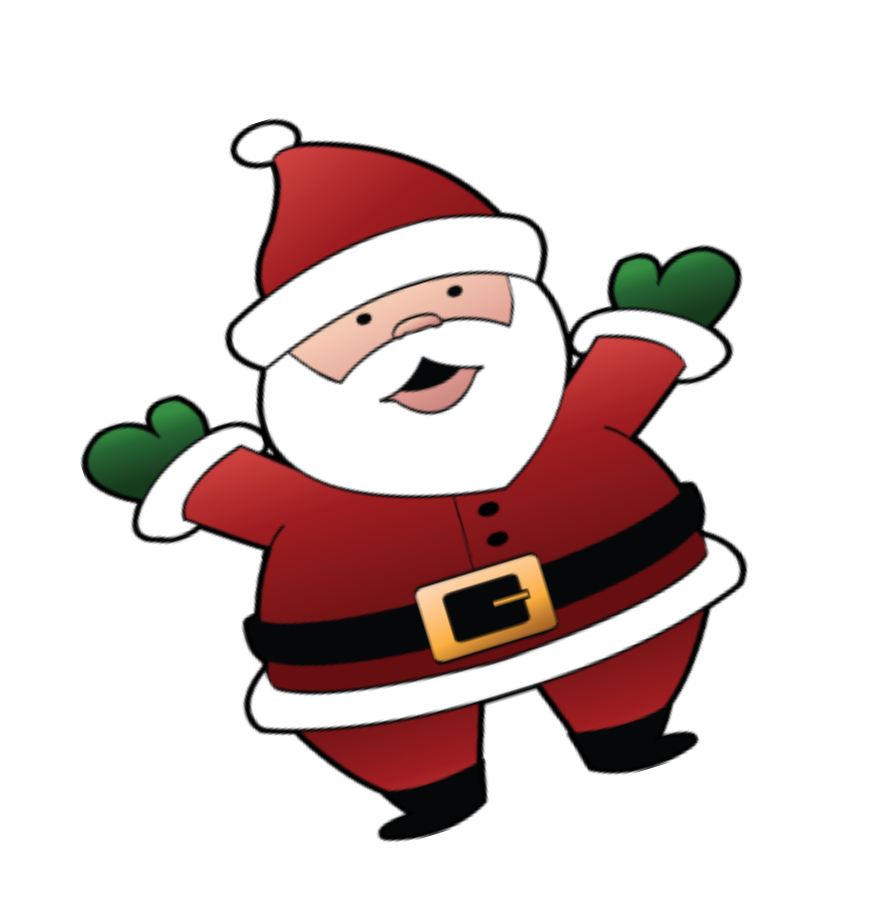 Location clipart file. Santa christmas clip art