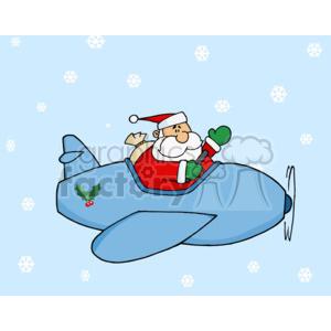 Clipart santa airplane. Flying an royalty free