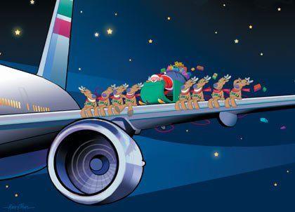 Clipart santa airplane. Claus airplanes christmas clip
