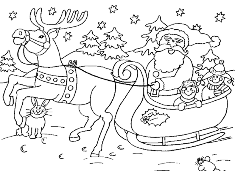Coloring pages nice ideas. Sleigh clipart christmas sleigh ride