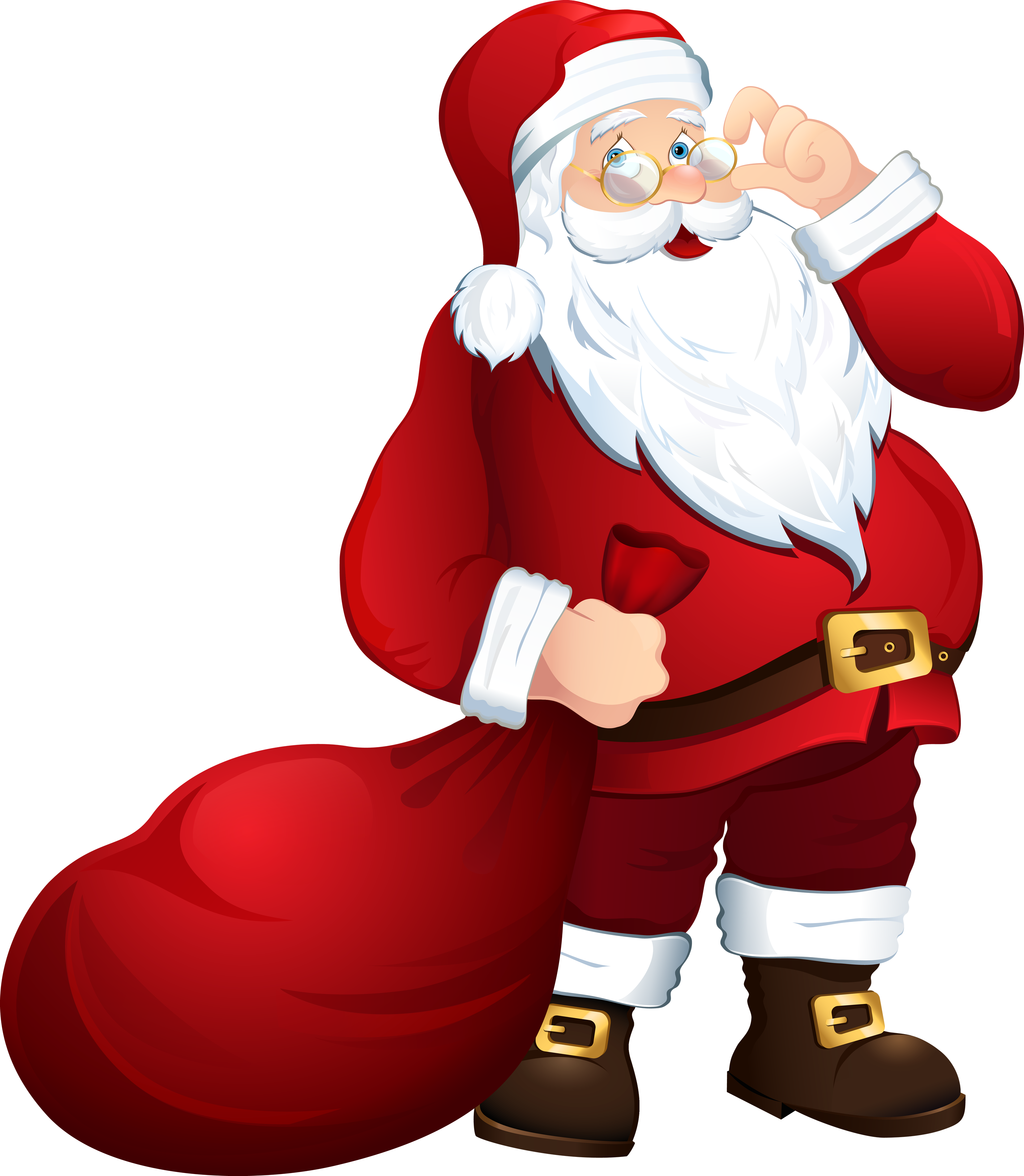 Sunglasses clipart santa. Claus in png free