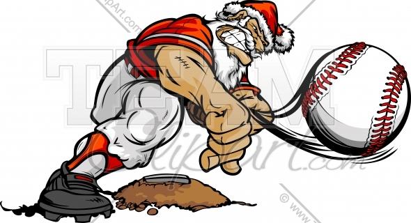 Santa clipart baseball. Claus image vector format