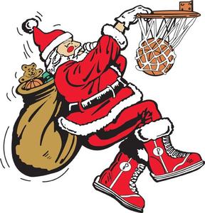 Santa clipart basketball. Playing free images at