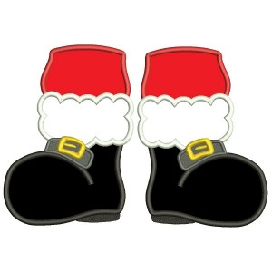 clipart santa boot