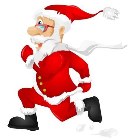Santa clipart boxing. Free download clip art