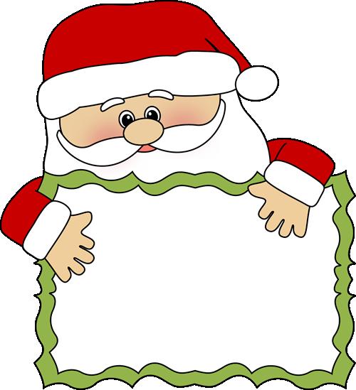 Clip art sign peeking. Santa clipart printable