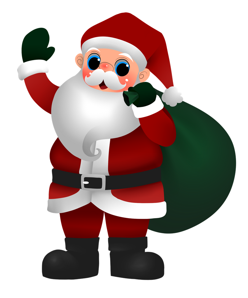 Cartoon claus. Clipart santa clothes