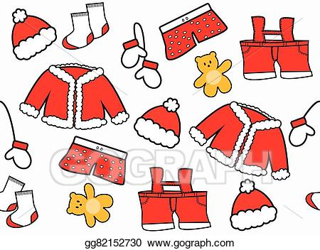 Vector art claus eps. Clipart santa clothes