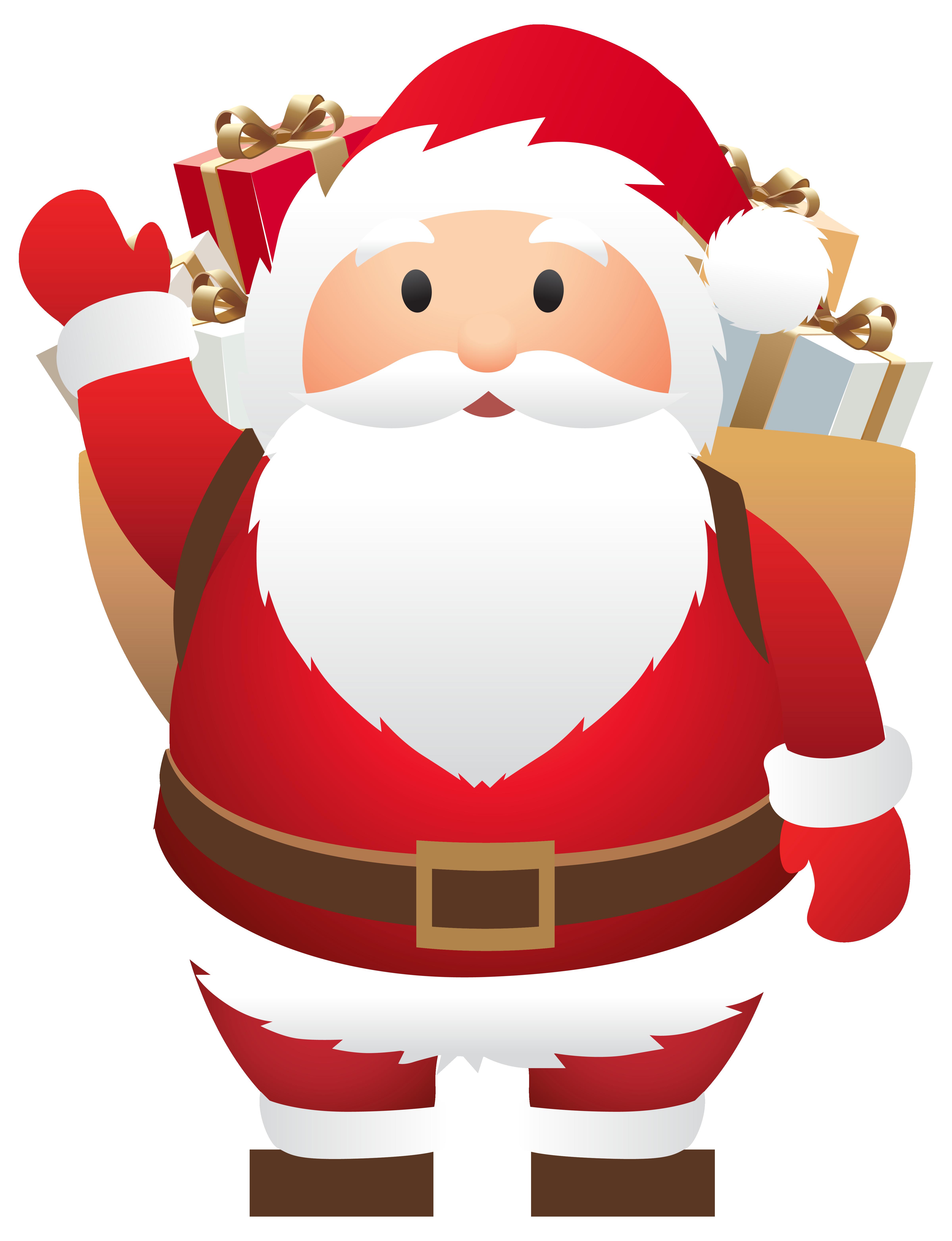 Decoration clipart cute. Santa claus christmas clip