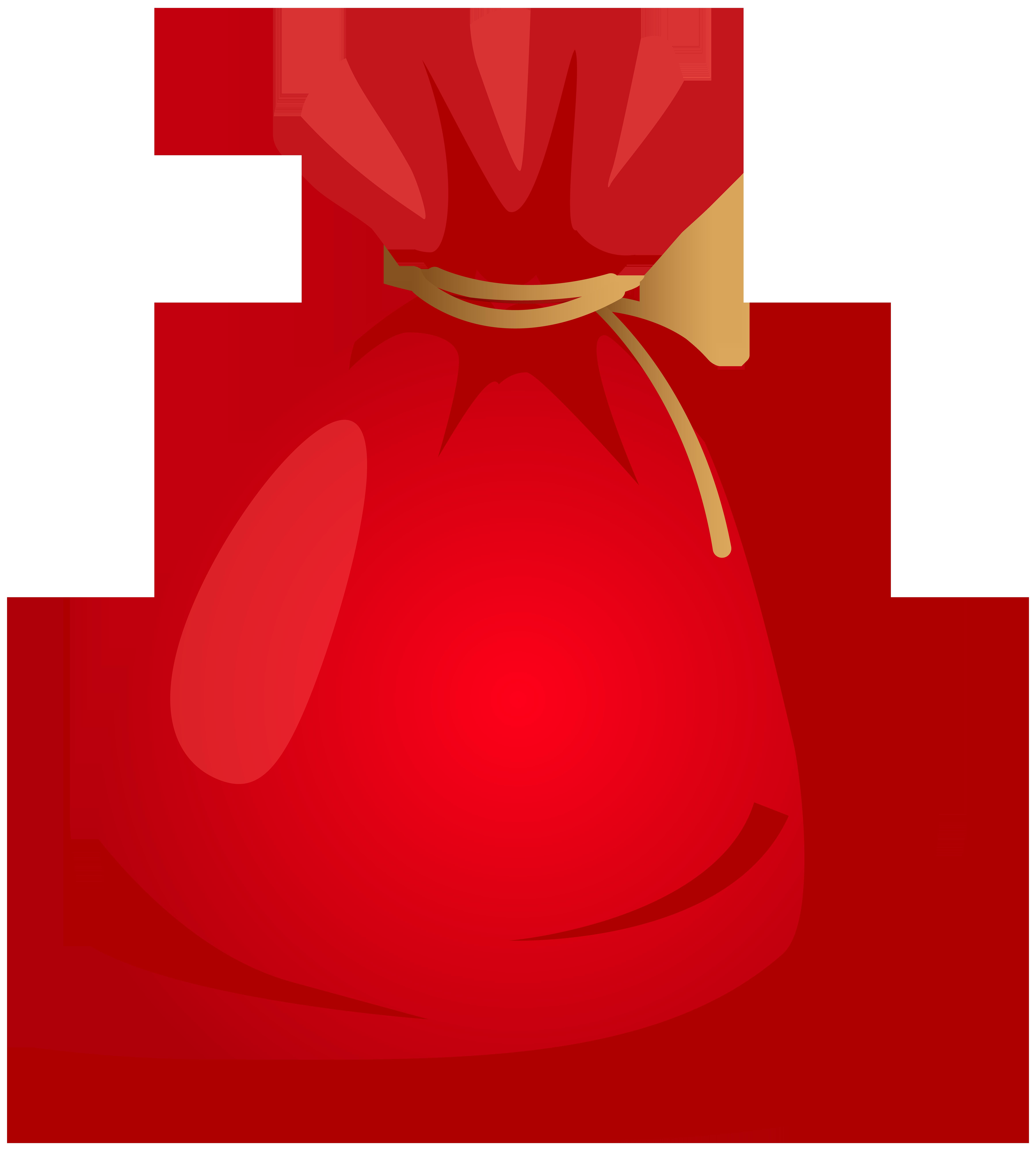 Santa claus christmas gift. Mango clipart sack
