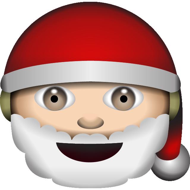 clipart santa emoji