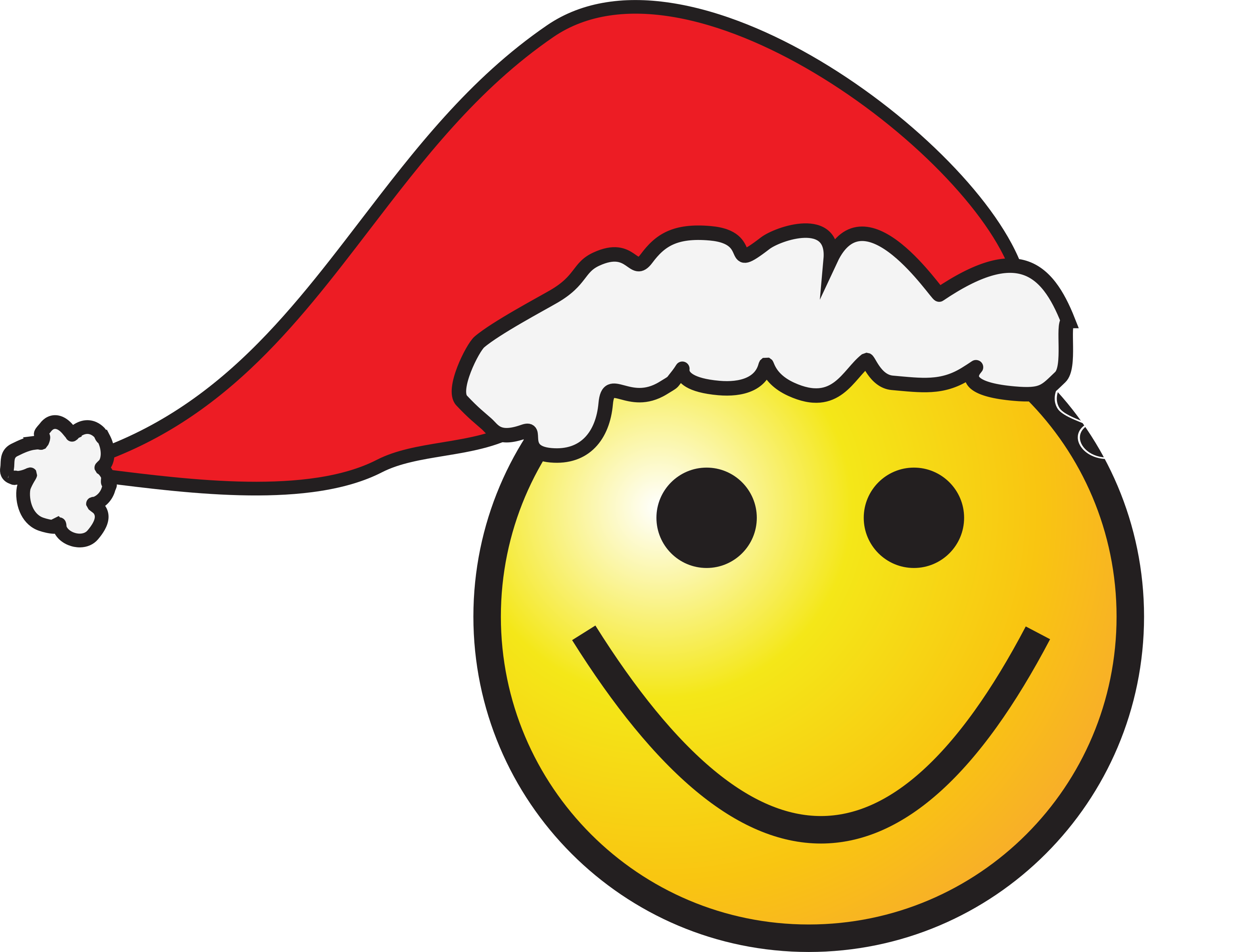 Santa big image png. Wednesday clipart smiley