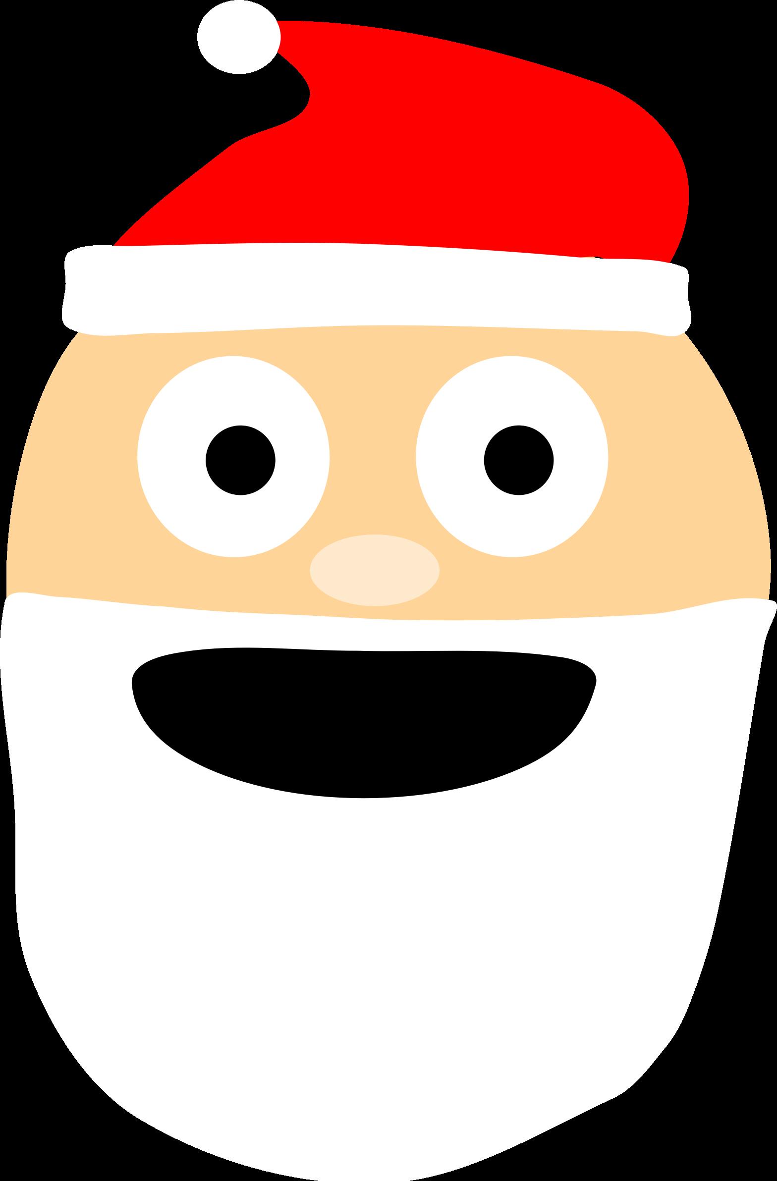 Emoji big image png. Santa clipart nose
