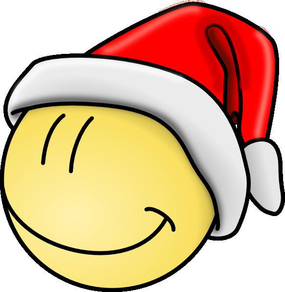 Smiley face clip art. Santa clipart sleeping