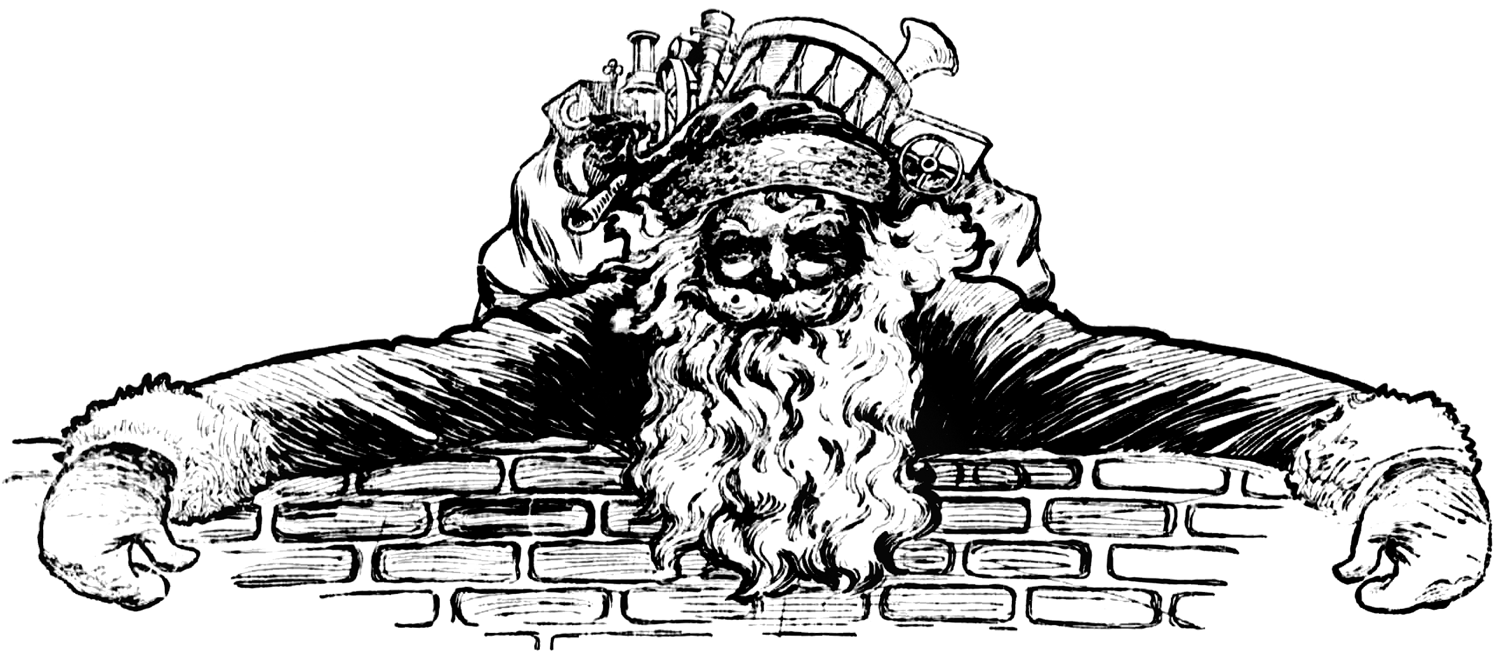 See clipart vintage.  collection of santa