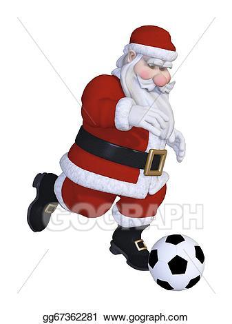 Drawing playing gg . Santa clipart football