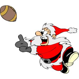 Santa clipart football. Playing cliparts of
