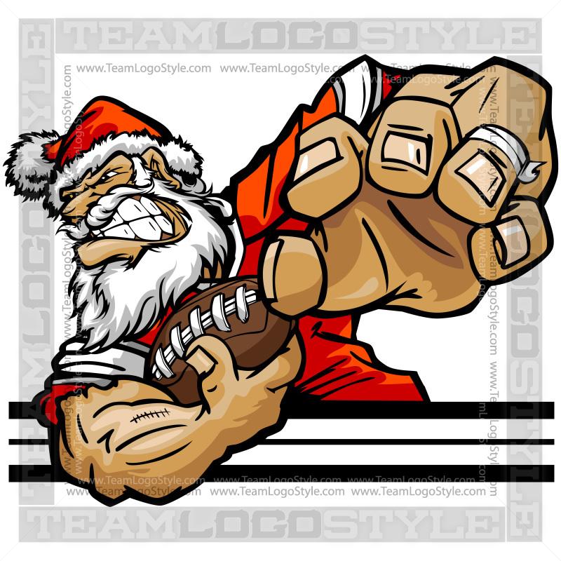 Claus clip art vector. Santa clipart football