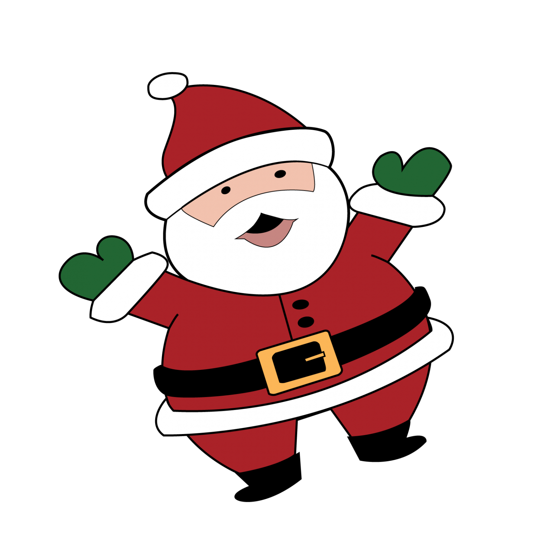 clipart santa gangster