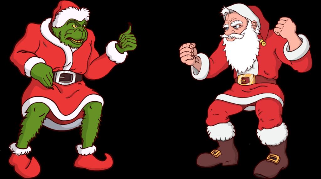 Santa clipart grinch. Illustrations color digital painting