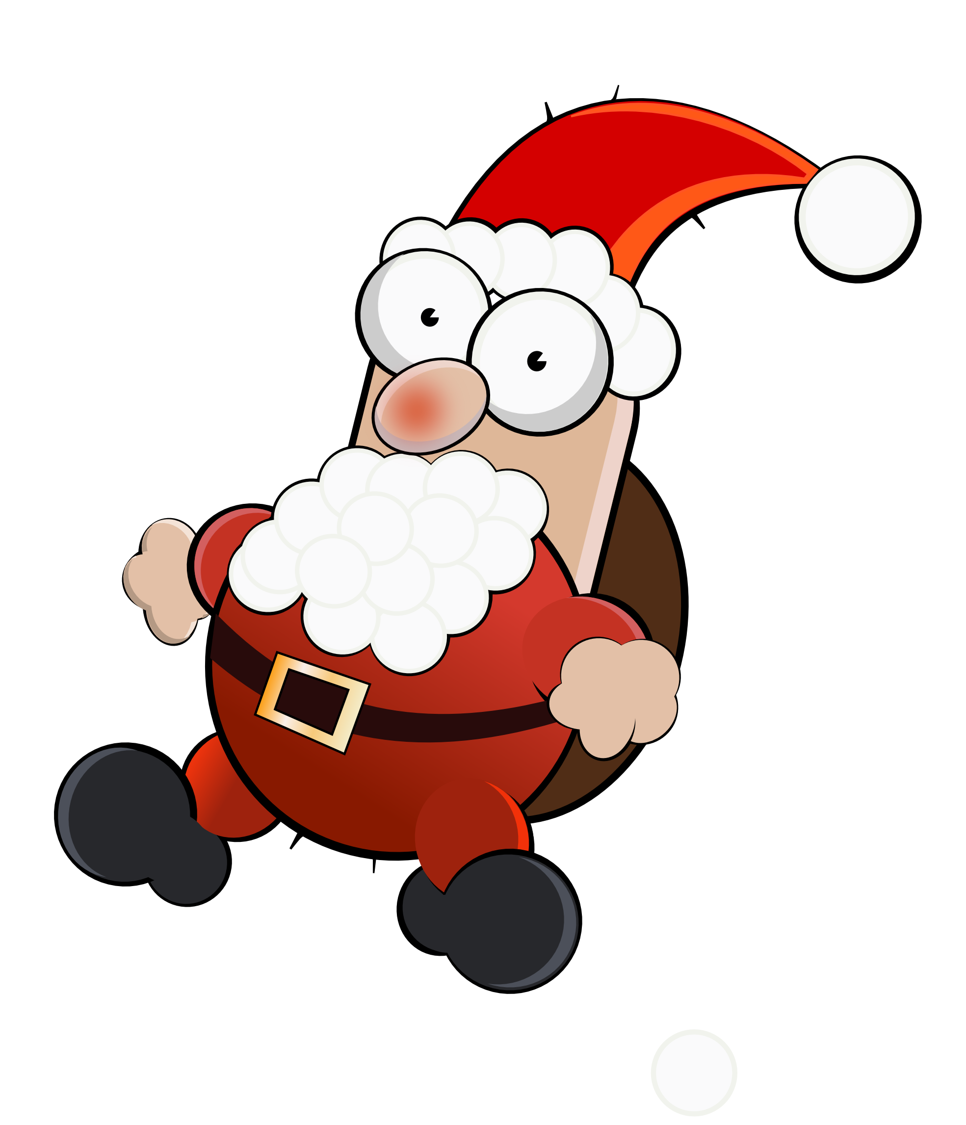 Free picture of crazy. Clipart santa hand