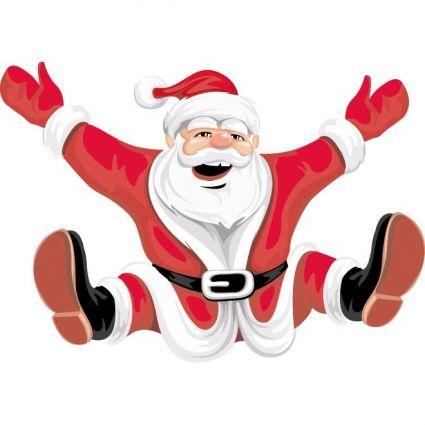 Santa clipart happy. Claus on christmas clip
